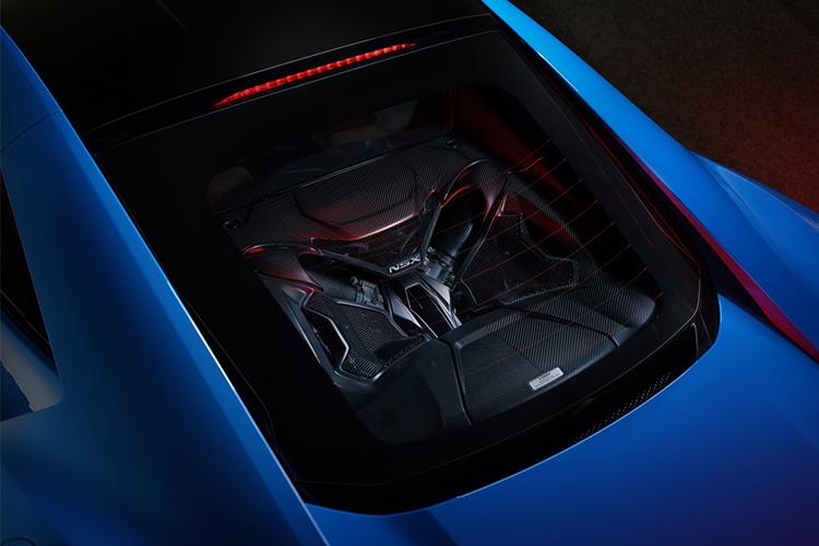 Acura NSX Long Beach Blue 2021 motor