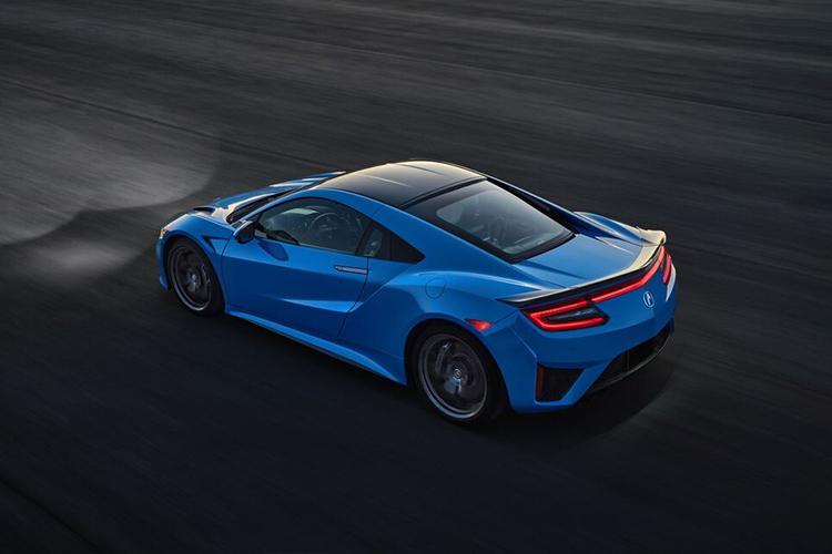 Acura NSX Long Beach Blue 2021 tecnología