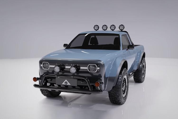 Alpha WOLF pickup off-road diseño retro