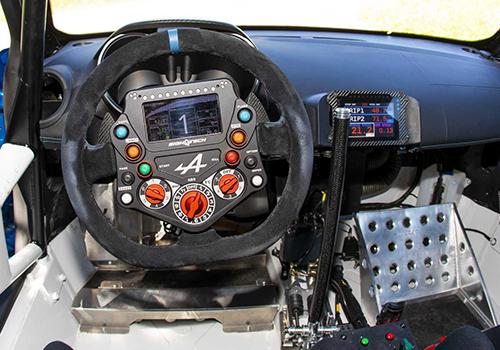 interior vehiculo de carreras