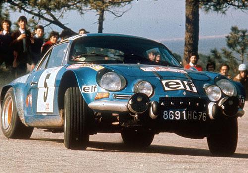 Alpine Historia vehiculo de competencias