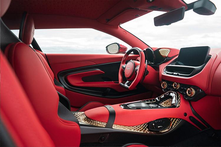 Aston Martin DBS GT Zagato impresión 3D piezas en Oro