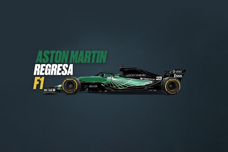 Aston Martin regresa a F1 tras 60 años fuera - carrocería motor