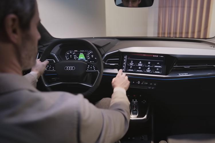 Audi Q4 e-tron totalmente eléctrico sistema de infoentretenimiento diseño