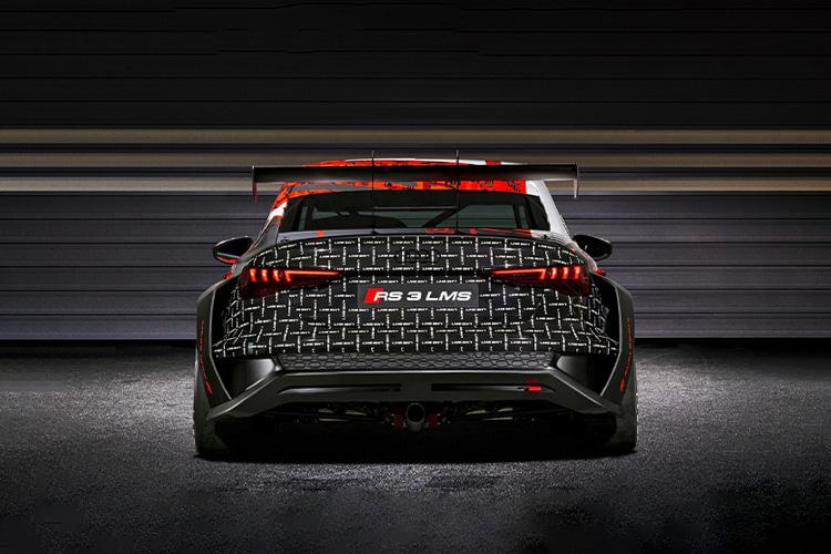 Audi RS 3 LMS coche de competición carrocería modelo