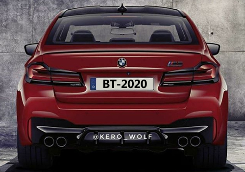 BMW M5 2021 fotos filtradas sin camuflaje parte trasera