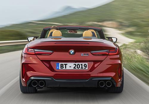 BMW M8 parte trasera