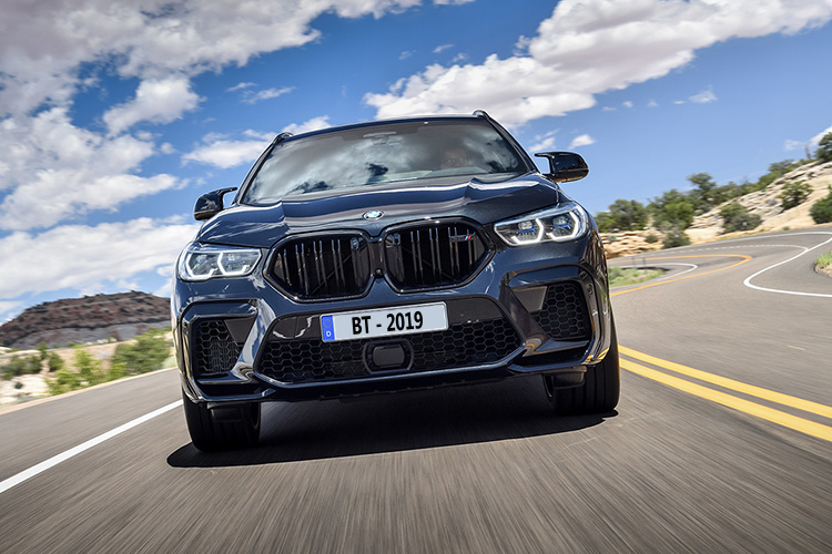BMW X6 M y M competition motor velocidad