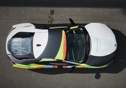 BMW i8 estampado de artista alemán