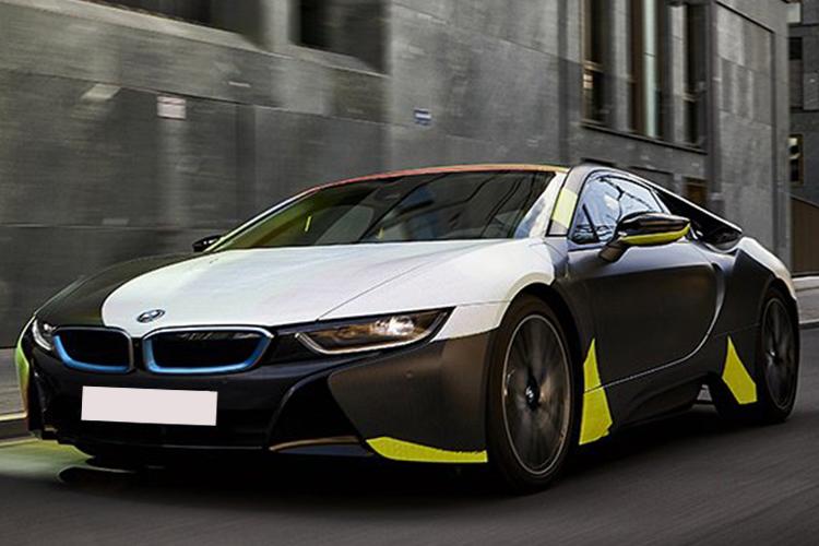 BMW i8 obra de arte en cuatro ruedas