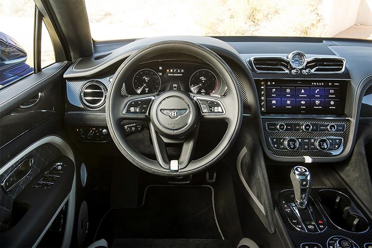Bentley Bentayga Speed 2021 sistema de infoentretenimiento