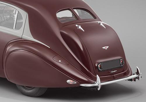 Bentley Corniche replica del 1939 vehiculo exhibición en salon privé reino unido
