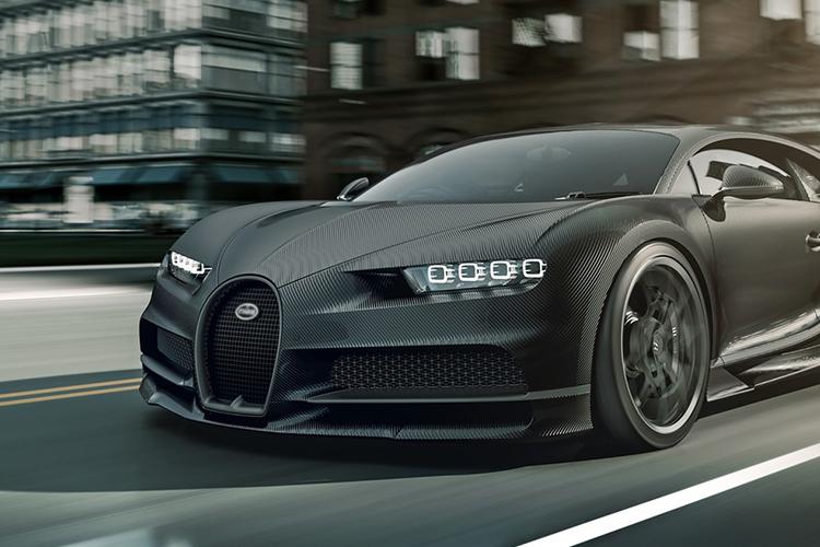 Bugatti Chiron Noire carrocería