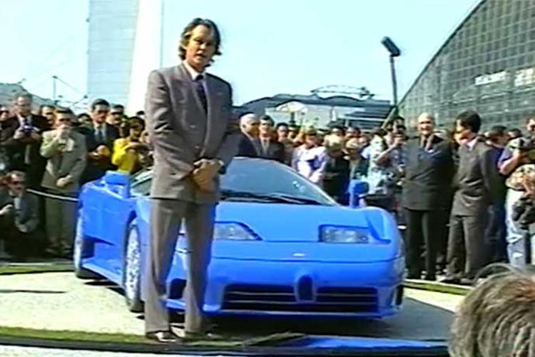 Bugatti EB 110 presentacion de 1991