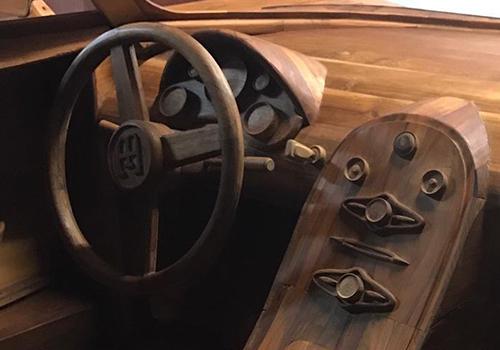 onstruido en madera botones