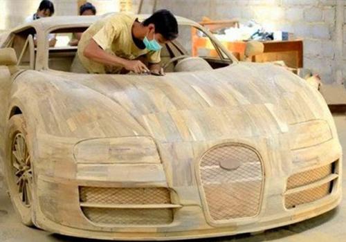 Bugatti Veyron construido en madera indonesia 2014