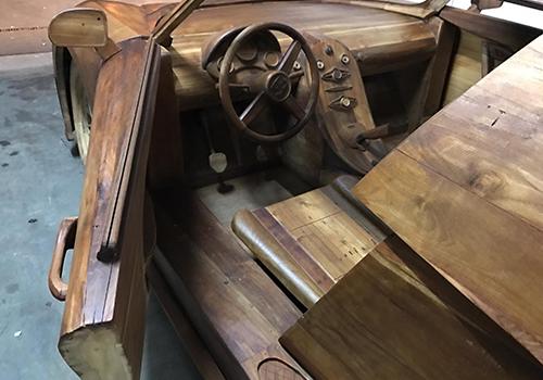 Bugatti Veyron construido en madera modelos