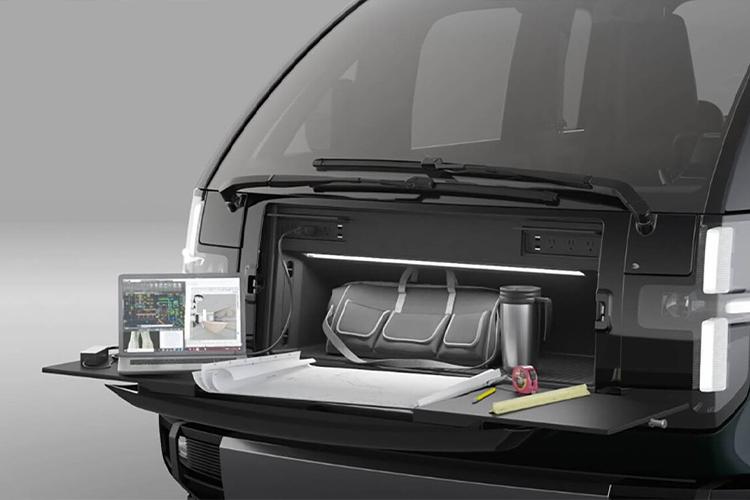 Canoo Electric pickup electricos compartimentos carga