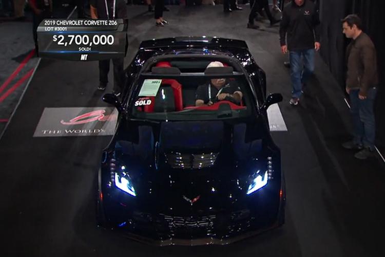 Corvette Septima Generación en subasta la última unidad del Chevrolet corvette Z06