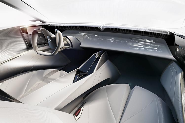 DS Aero Sport Lounge concept car sistema de infoentretenimiento