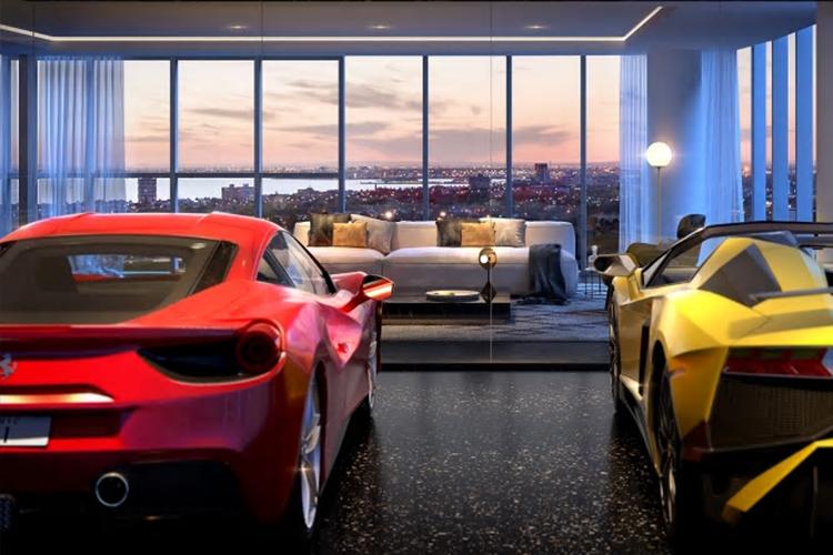 Edificios de lujo con elevador para auto_departamentos de lujo