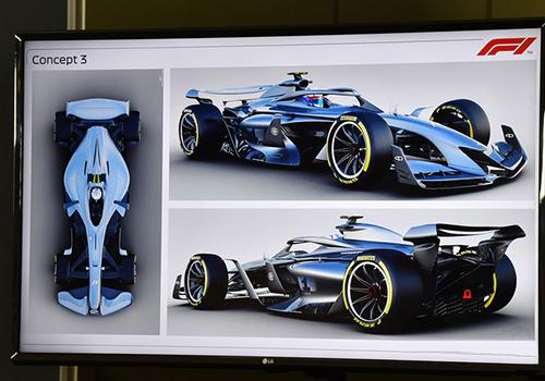 Fórmula 1 monoplaza bosquejo digital pruebasv