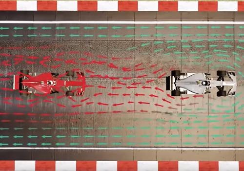 Fórmula 1 prototipo fuerza aire sucio