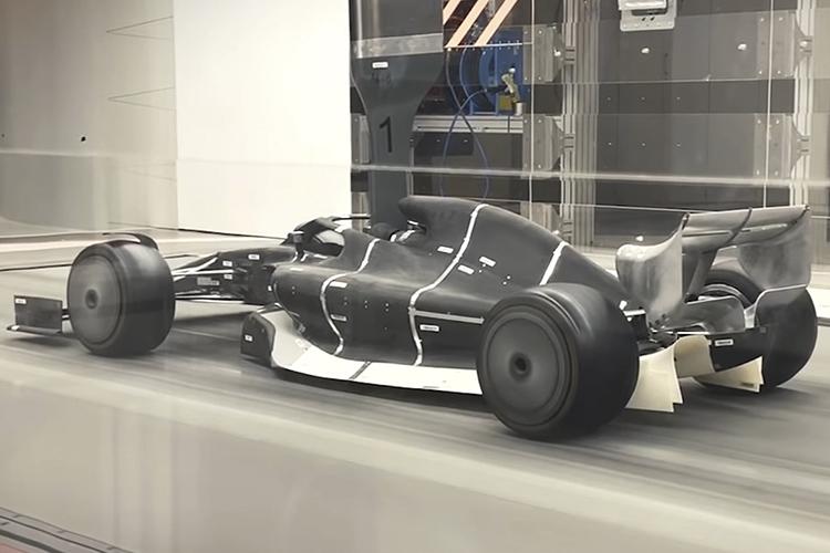 Fórmula 1 prototipo pruebas en tunel de viento