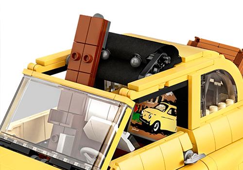 Fiat 500 Lego Creator Expert réplica la dolce vitta