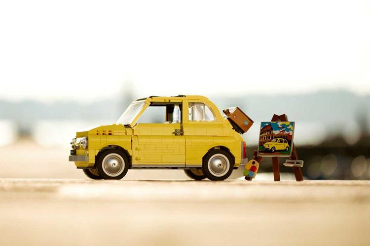 Fiat 500 Lego Creator Expert réplica piezas