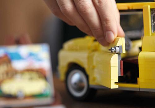 Fiat 500 Lego Creator Expert réplica puertas