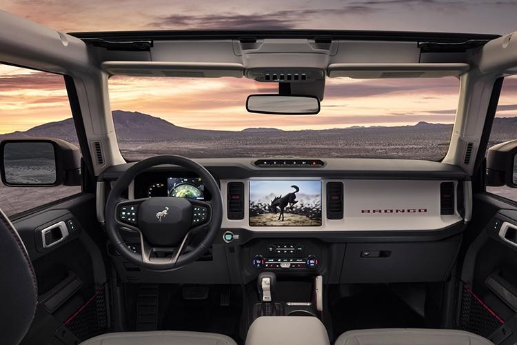 Ford Bronco 2021 sistema de infoentretenimiento
