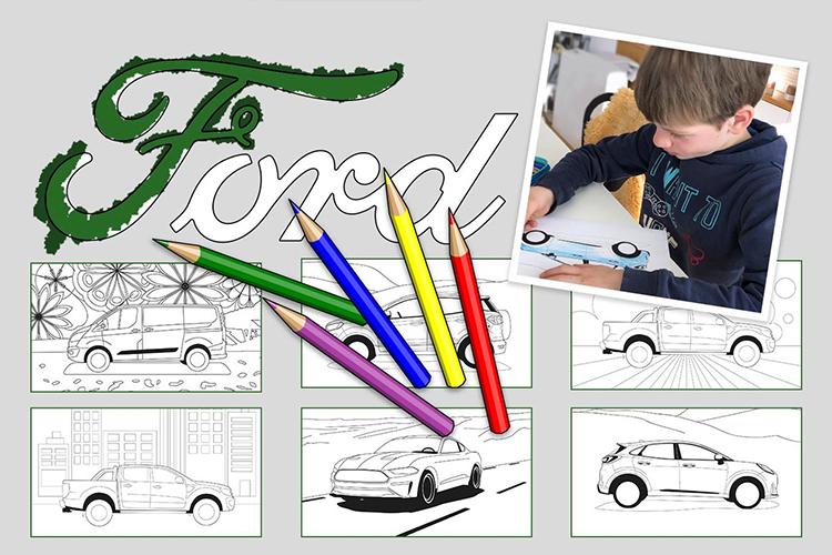 Ford Family Fun nuevo sitio web plantillas para colorear