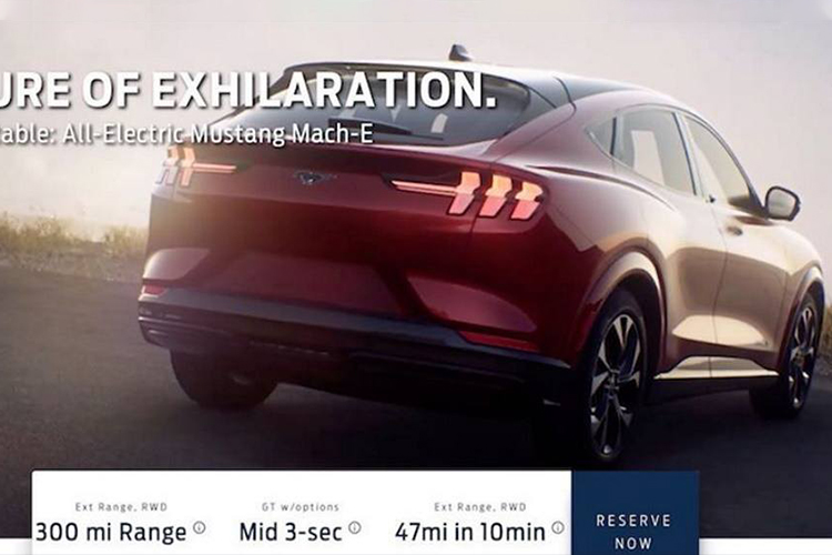 Ford Mustang Mach-e totalmente eléctrico