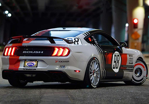 Ford Mustang modificado de Ryan Blaney 2019 competencia SEMA SHOW