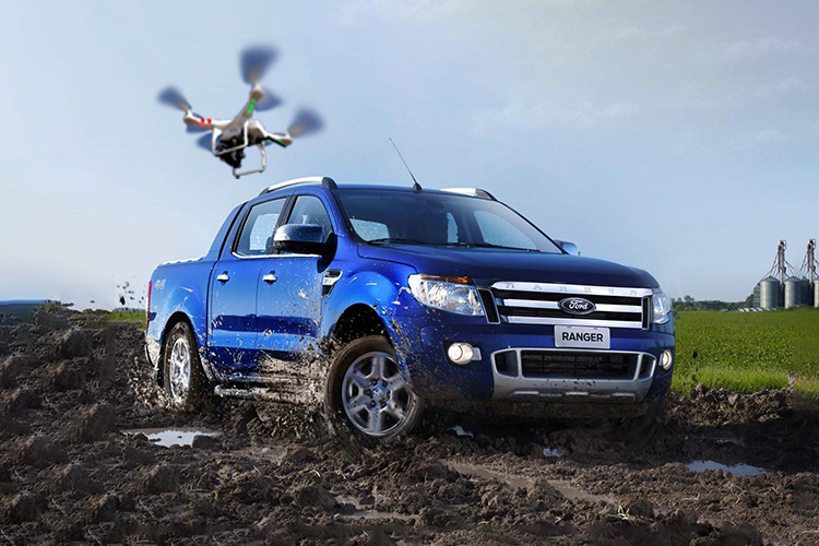 Ford drone vehiculo+