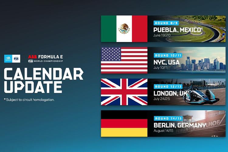 Fórmula E vuelve a México en Junio 2021 calendario de eventos competición