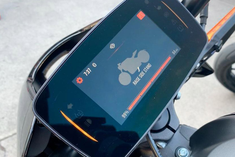 harley-Davidson LiveWire con pantalla táctil