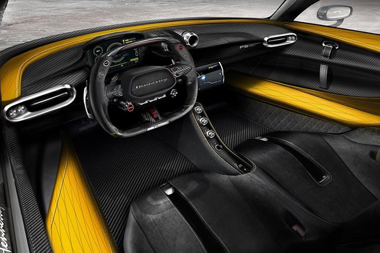 Hennessey Venom F5 hypercar interior
