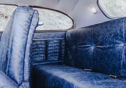 Hudson coupe restaurado asientos de piel de cocodrilo