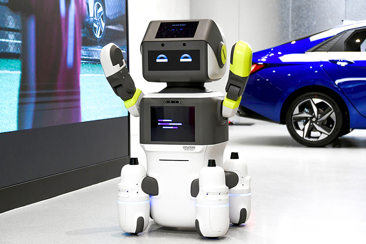 Hyundai Dal-e nuevo robot automatizado carrocería innovaciones tecnología modelos Showroom