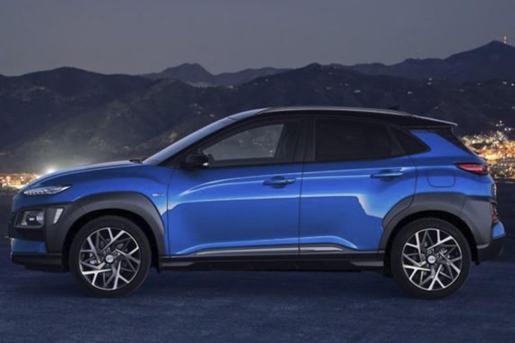 Hyundai Kona Híbrido color Blue Lagoon