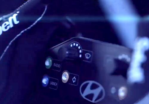 Hyundai eléctrico para carreras volante velocidad competición