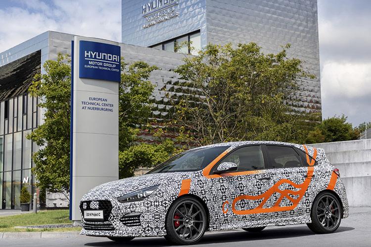Hyundai i30 N project C vehiculo pruebas en circuito Nordschleife