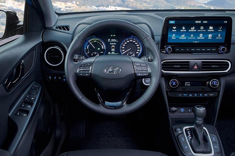 Interior del Hyundai Kona Híbrido