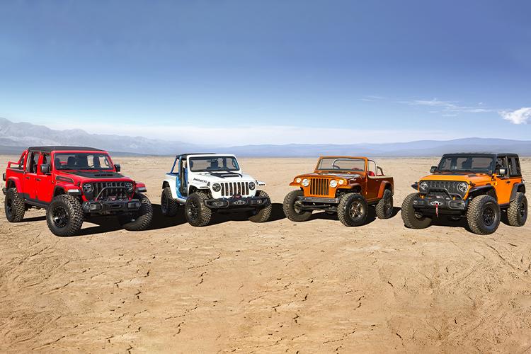 Jeep diseña concept cars para Easter Jeep Safari modelos Jeep Farout Jeep Magneto Jeep Orange Peelz Jeep Red Bare Jeepster Beach