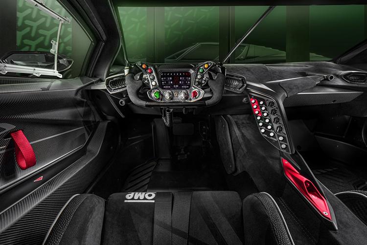 Lamborghini Essenza SCV12 hypercar de circuito diseño interior