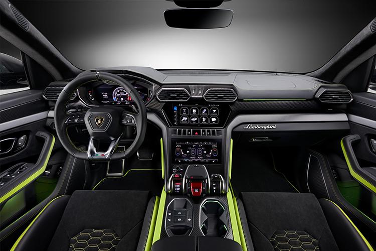 Lamborghini Urus Graphite Capsule diseño interior
