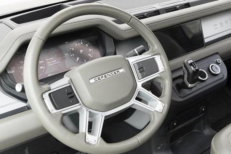 Land Rover Defender 2020 vehiculo interior tablero sistema de infoentretenimiento