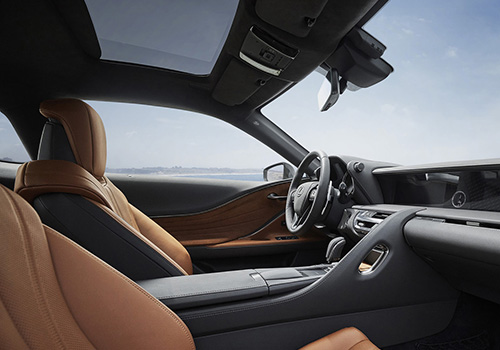 Lexus LC 500 inspiration series interior de lujo